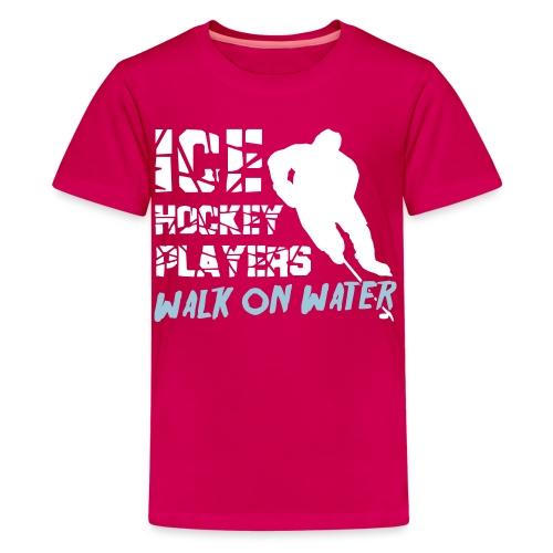 Ice Hockey Players Walk on Water - Teenage Premium T-Shirt