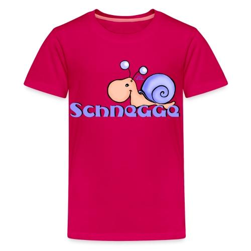 Schnegge - Teenager Premium T-Shirt