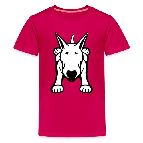 Bull Terrier Sprawl Design Tee - Teenage Premium T-Shirt