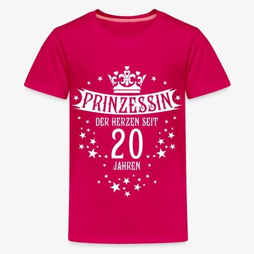 15 Prinzessin der Herzen seit 20 Jahren Geburtstag - Teenager Premium T-Shirt