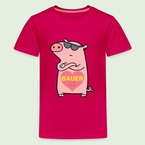 Ich liebe Bauer - Teenager Premium T-Shirt