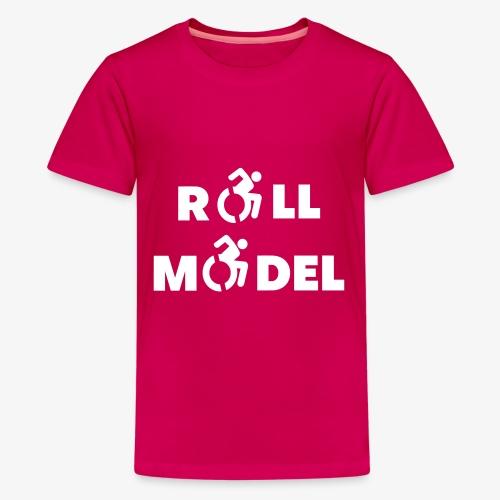 Elke rolstoel gebruiker is een roll model - Teenager Premium T-shirt