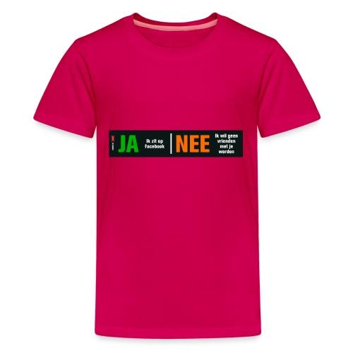 facebookvrienden - Teenager Premium T-shirt