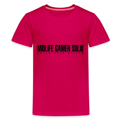 Midlife_Gamer_Solid_2 - Teenage Premium T-Shirt