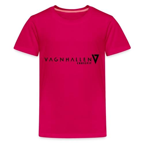 Vagnhallen_logo_ligg - Premium-T-shirt tonåring