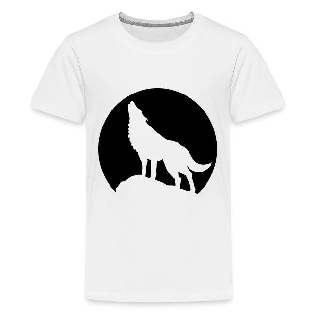Heulender Wolf Teenager T-Shirt
