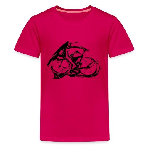 futuristischer radfahrer - Teenager Premium T-Shirt