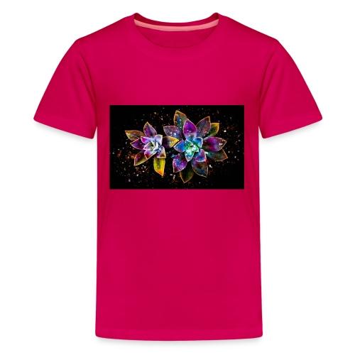 Wunderschöne Kunstblumen - Teenager Premium T-Shirt