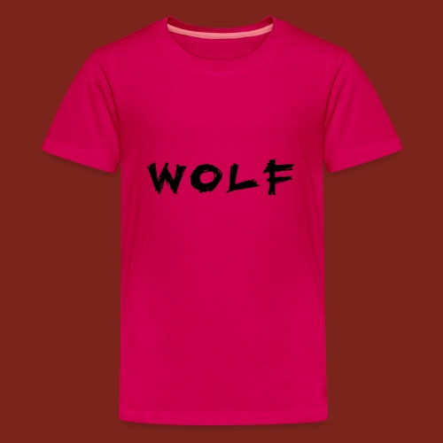 Wolf Font png - Teenager Premium T-shirt