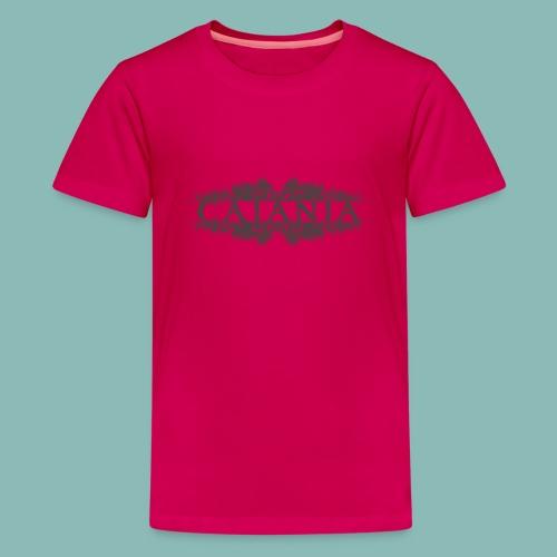 Caiania-logo harmaa - Teinien premium t-paita