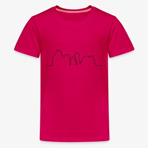 Kontur der Externsteine - Teenager Premium T-Shirt