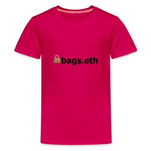 👜bags.eth - Teenager Premium T-Shirt
