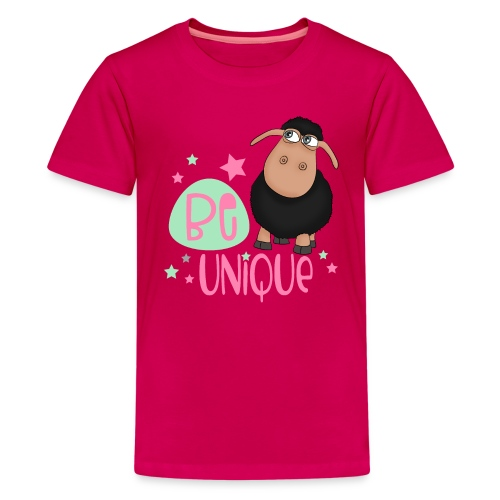 schwarzes Schaf: Sei einzigartig - unique Schaf - Teenager Premium T-Shirt