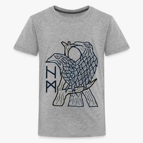 Hugin und Munin - die beiden Raben - Teenager Premium T-Shirt