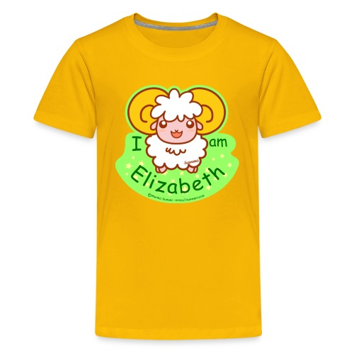 I am Elizabeth - Teenage Premium T-Shirt
