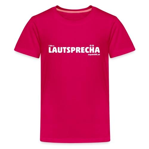 supatrüfö LAUDSPRECHA - Teenager Premium T-Shirt