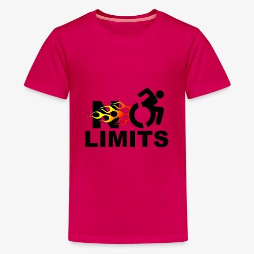 Geen grenzen voor deze rolstoel gebruiker - Teenager Premium T-shirt