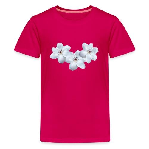 Jalokärhöt, valkoinen - Teinien premium t-paita