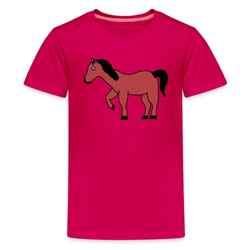 pferd Pony Reiten - Teenager Premium T-Shirt