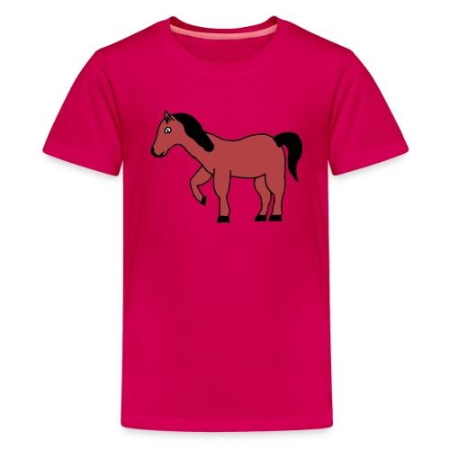 pferd Pony Reiten - Teenager Premium T-Shirt