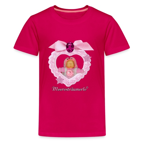 Meerestraeumerle Prinzessin in rosa Herz - Teenager Premium T-Shirt