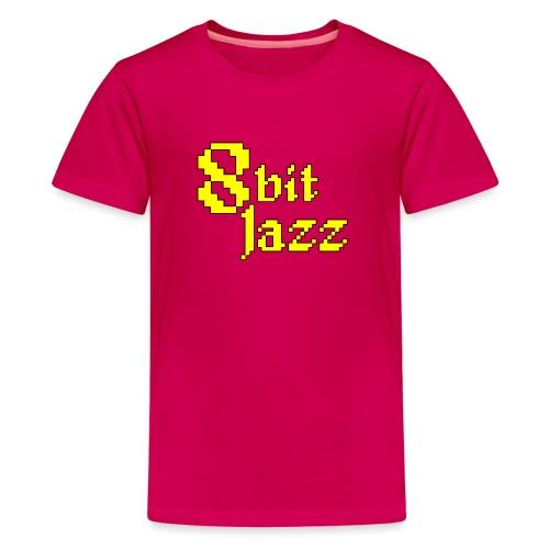 8 Bit Jazz Logo - Yellow - Teenage Premium T-Shirt