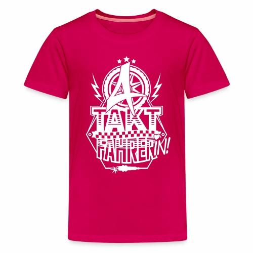 4-Takt-Fahrerin / Viertaktfahrerin - Teenage Premium T-Shirt