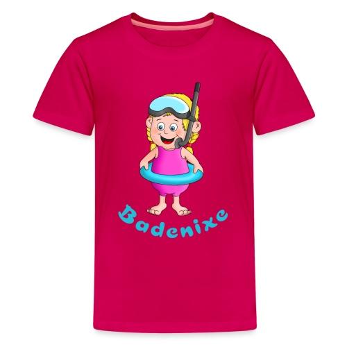 Badenixe - Schwimmerin - Teenager Premium T-Shirt