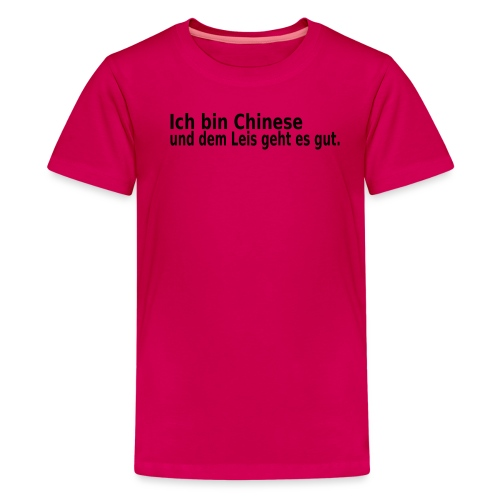 chinese China Reis - Teenager Premium T-Shirt