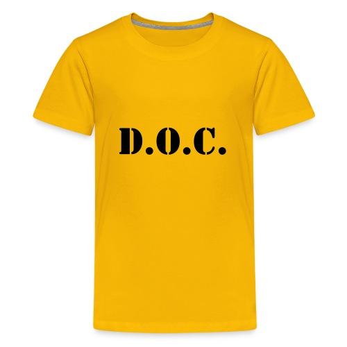 Department of Corrections (D.O.C.) 2 back - Teenager Premium T-Shirt