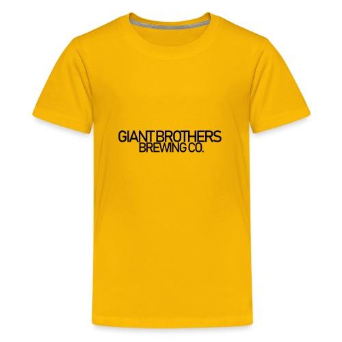 Giant Brothers Brewing co SVART - Premium-T-shirt tonåring