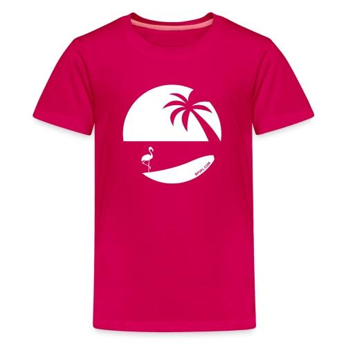 Logo French Floridian blanc - T-shirt Premium Ado