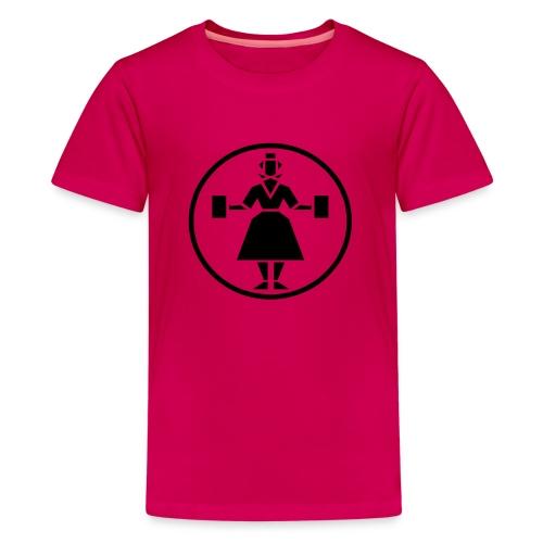 hessenweib schwarz - Teenager Premium T-Shirt