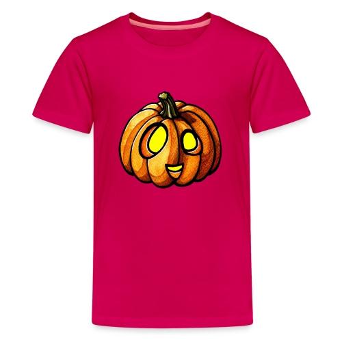 Pumpkin Halloween watercolor scribblesirii - Premium T-skjorte for tenåringer