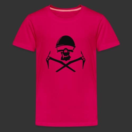 Climbing Skull - Teenager Premium T-Shirt