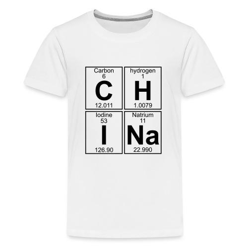 C-H-I-Na (china) - Full - Teenage Premium T-Shirt
