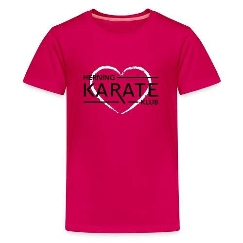 HKK Hjerte Hvid - Teenager premium T-shirt