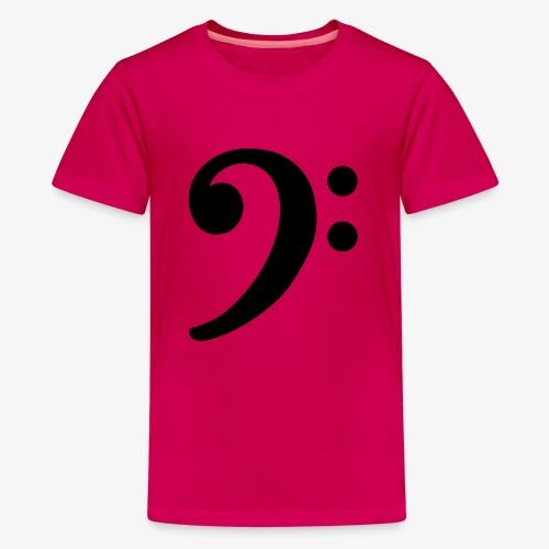 Notenschlüssel (Bass) Bassschlüssel - Teenager Premium T-Shirt