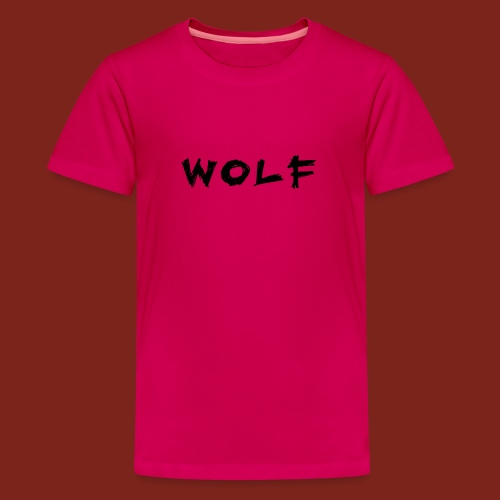 Wolf Font png - Teenager Premium T-shirt