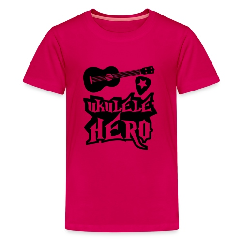 Ukelele Hero - Teenage Premium T-Shirt