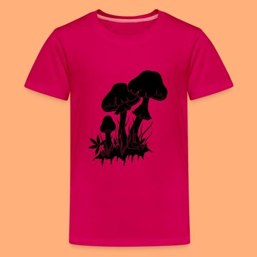 champignons noir et blanc - T-shirt Premium Ado