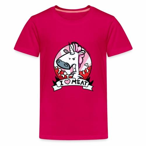 I love Meat by Nina-Nice - Teenager Premium T-Shirt