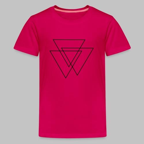 triangles Valknut - Teenage Premium T-Shirt