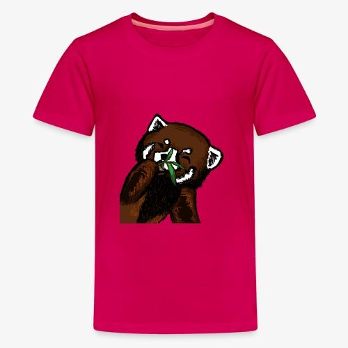 Cute red panda with Bamboo Wildlife T-Shirt - Teenage Premium T-Shirt