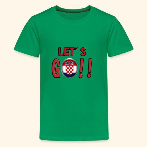 Go Croatia - Maglietta Premium per ragazzi
