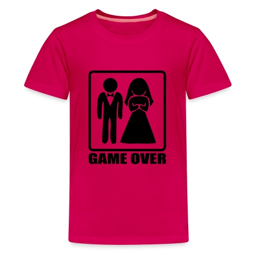 Mariage game over - T-shirt Premium Ado