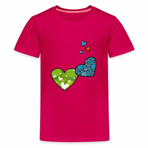 Herzchen - Teenager Premium T-Shirt