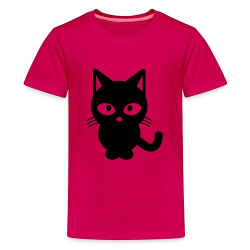 Styled Black Cat - T-shirt Premium Ado