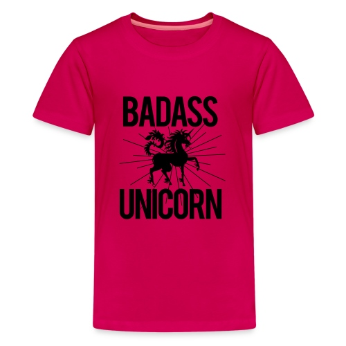 Badass Unicorn - Teenage Premium T-Shirt