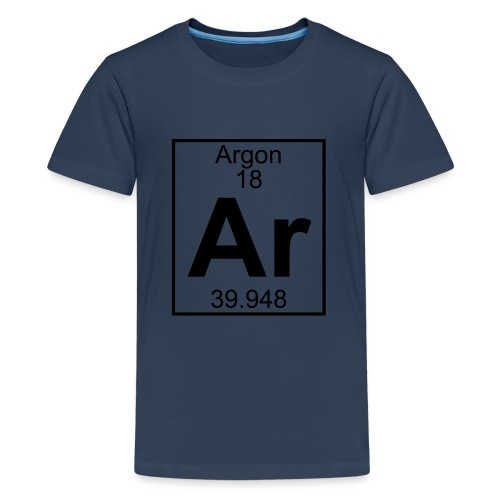 Argon (Ar) (element 18) - Teenage Premium T-Shirt